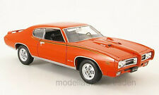 Welly 22501 Pontiac GTO 1969 orange Maßstab 1:24 Modellauto NEU! °