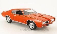 Welly 22501 Pontiac GTO 1969 rot Maßstab 1:24 Modellauto NEU! °
