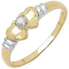 Bague de fiancailles Femmes Diamant Coeur Argent massif 925