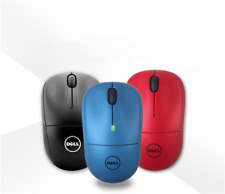 NEW Genuine Dell WM123 Wireless Mouse Black/Blue/Red Mice