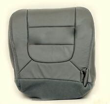 2002 2003 Ford F150 XLT Driver Bottom Replacement Leather Seat Cover Gray