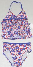 BABY GAP Girl's Floral Ruffle Tankini Swimsuit Set UPF 40+ Size 3 Years
