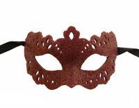 Máscara de Venecia Columbine à Punta Silvia Rojo Sangre Graduación Gala 1017