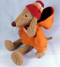 Bath & Body Works BARKER Plush Stuffed Toy Dog Hooded Orange Sweatshirt