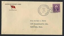 US 1935 SHIP POSTED ON THE HIGH SEAS PURSER S.S. EXETER AMERICAN EXPORT LINE CVR