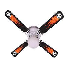 "New HOT FLAMES SOCCER BALLS SPORTS Ceiling Fan 42"""