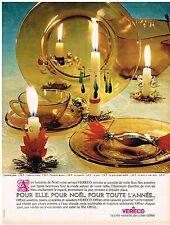 PUBLICITE ADVERTISING  1963   VERECO   art de la table verre assiettes
