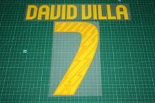 Barcelona 10/11 #7 DAVID VILLA Homekit Nameset Printing