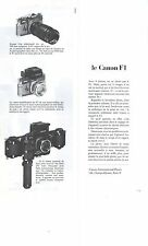 PUBLICITE  1972  CANON F1 appareil photo