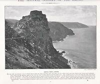 1897 Vittoriano Stampa ~ Castle Rock Lynton North Devon ~ Forti ( Testo