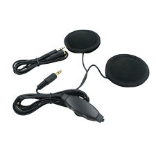AU Motorcycle In-Helmet Headset Headphone Earphone For GPS Iphone w/ 2 Speakers