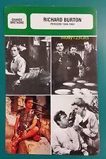British Actor Richard Burton (Period 1948-1964) French Film Trade Card