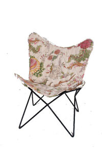 Coral Reef Chair Iron Stand With Leather Cover for Indoor Outdoor
