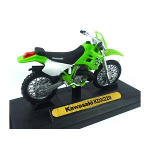 MOTORMAX 76205-435 Kawasaki KDX220 Vert Maßstab 1:18 Modèle de Moto Neuf !°