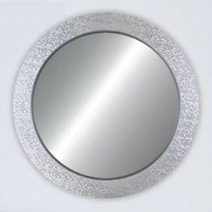 """Round Silver Mirror, 32"""" x 32"""""""
