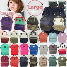 Japan Anello Big Capacity Backpack Rucksack Unisex Canvas School Book Bag Campus