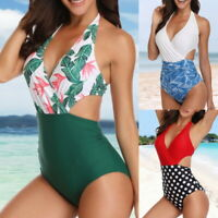 Women Girl Bandage High Waist Swimsuit Monokini Beach Swimwear Bikini Suit LOCA