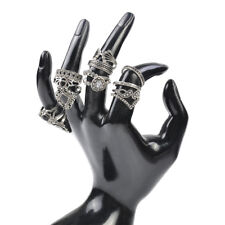 15Pcs/set Women Vintage Silver Midi Finger Rings Boho Punk Knuckle Rings Jewelry