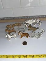 Safari Lot of 8 Wild Cat Animal Figures Lion Tiger Cubs Snow Leopard Cheetah VGU