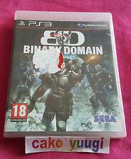 BINARY DOMAIN SONY PS3 NEUF SOUS BLISTER 100% FRANCAIS