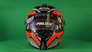 Airoh Movement S - Full Face Motorcycle Helmet (Steel - Orange Gloss) NEW& BOXED
