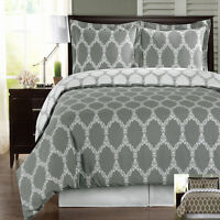 Brooksfield 100% Cotton 300 TC Duvet Cover Set Contemporary Print
