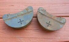 Pair (2) Vintage Falls City Belt Fishing Bait Worm Boxes - 2 (rougher condition)
