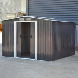 8 x8 Metal Garden Shed Outdoor Patio Gardening Tool/Bike/Equipment Storage Shed