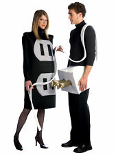 COUPLES PLUG AND SOCKET SET ADULT COSTUME Funny Comical Pair Party Halloween