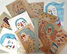 Francois Aguiard,dossier 10 original drawings,contemporary art, Maria Callas....