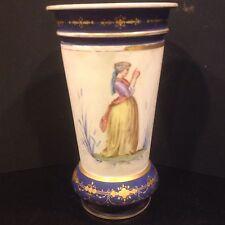 New listing Large Continental Antique Hand Painted Porcelain Vase