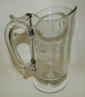 Elegant Antique Crystal Clear Glass Footed Water Pitcher
