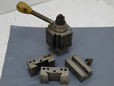 Wedge tool post holder with 3 tool holders holds 1/2 inch tool