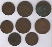 Mix Of France Napoleon III 5 & 10 Centimes Coins | Pennies2Pounds