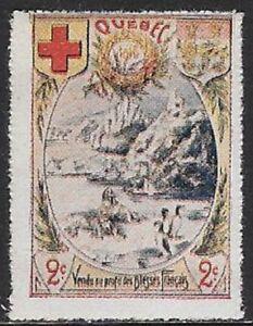 Delandre WWI Red Cross Stamp Reklamemarke: Quebec Canada Vignette   - cw49.18