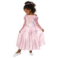 Girls Pink Ballerina Princess Halloween Kids Costume Velvet Flower Dress Child M