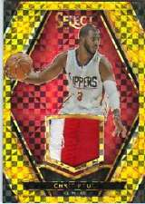 2015-16 Panini Select Swatches Gold Prizm Jersey Patch /10 Chris Paul Clippers