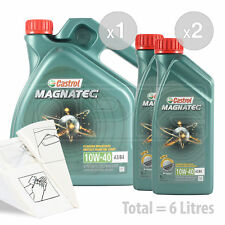 Car Engine Oil Service Kit / Pack 6 LITRES Castrol Magnatec 10w-40 6L