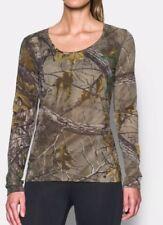 $45 Under Armour Threadborne Early Season Women's MEDIUM Realtree Hunting Shirt