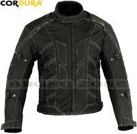 BLACK SKORPIAN MENS CE ARMOUR STYLISH MOTORBIKE / MOTORCYCLE TEXTILE JACKET