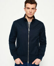 New Mens Superdry Nordic Harrington Navy