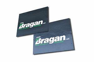 2pc UV Rubber Bragan Print Rear Mudflap Mudguards Mud Flaps 60x50cm