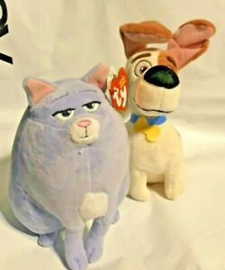 """Chloe the Cat and Max the Dog The Secret Life of Pets 6"""" Plush Ty Stuffed Animal"""