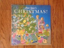 PETER SPIER'S CHRISTMAS! Book Vintage 1983 SIGNED FIRST EDITION No DJ ~ Nice!
