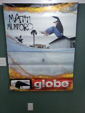 Skateboarder Matt Mumford Rare Store Display Doublesided Vinyl Globe Poster