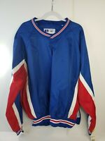 Vintage  Original 90's RUSSELL ATHLETIC Pullover windbreaker XL  Red White Blue