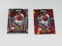 2020-21 Eddie Nketiah Panini Prizm Soccer Red Ice & Base Arsenal