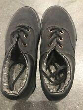 Next Boys Black Plimsole Trainer Shoes Size UK13