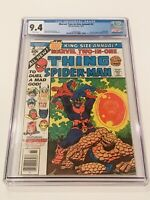 MARVEL TWO-IN-ONE ANNUAL #2 CGC 9.4 WHITE PAGES THANOS Avengers EndGame Movie