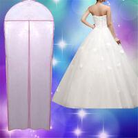 180cm Large White Wedding Evening Dress Garment Breathable Cover Storage Bag